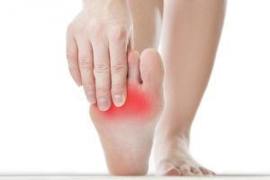 Pain in the bottom of the foot due to a Neuroma